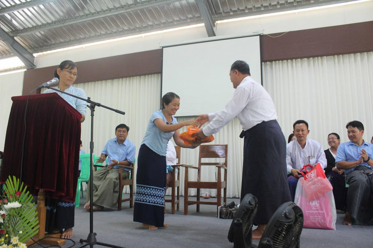 Welcoming gift to Dr. Irin Thang