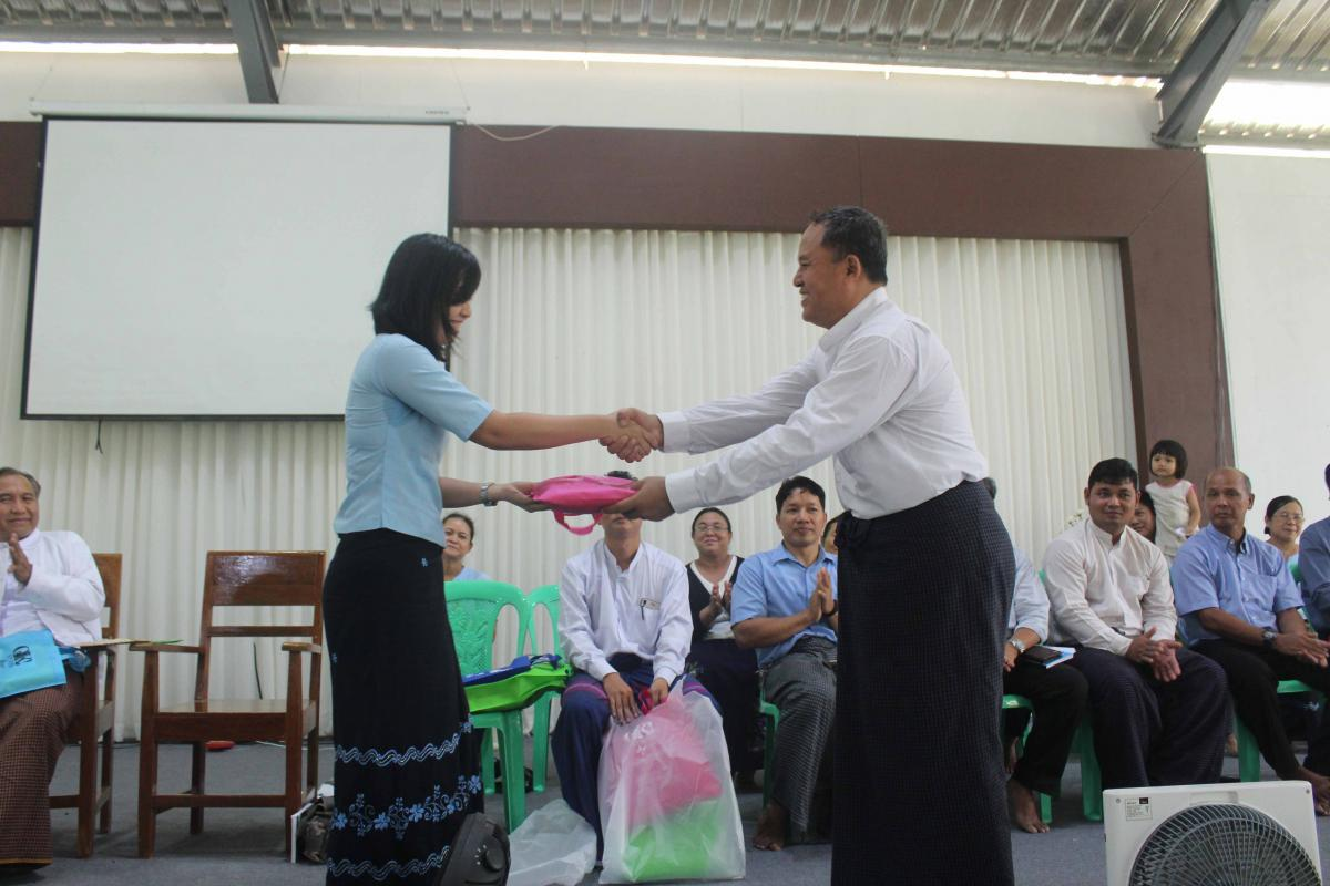 Welcoming gift to Sayama May Mitta