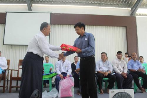 Welcoming gift to Saya Zam Mung